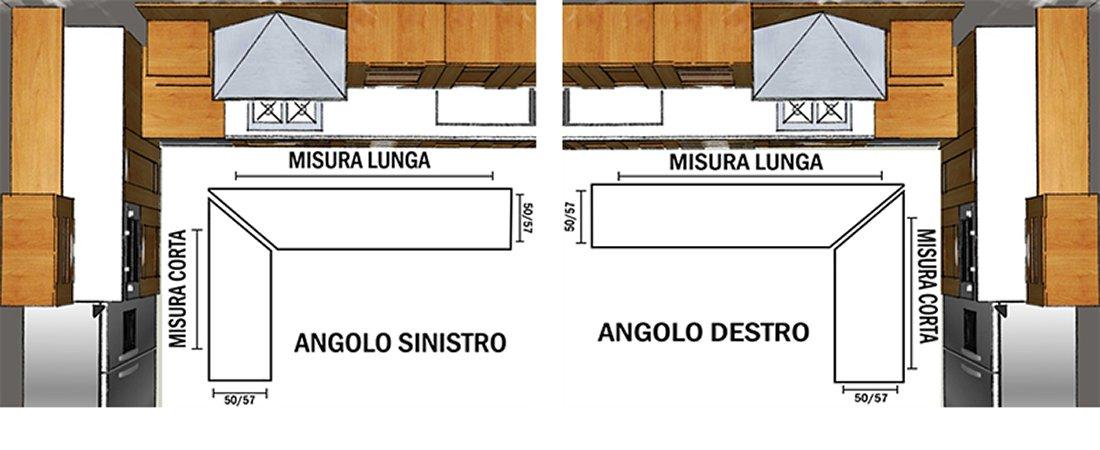 Tappeto Cucina Angolare Su Misura Bordato Tessitura Piatta Retro