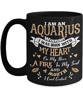e8d93e70cf4 Amazon.com: Aquarius Facts Awesome Mug For Aquarius Zodiac Coffee ...