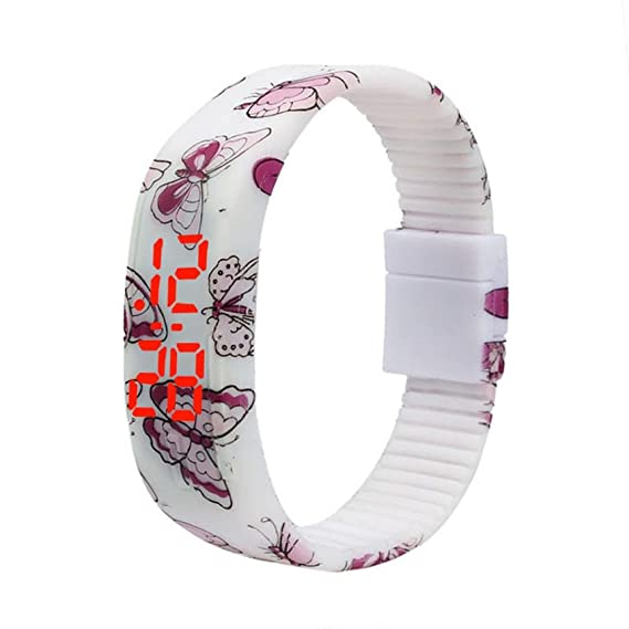 Reloj de pulsera digital deportivo, de silicona con indicador LED, para niña o niño: Amazon.es: Relojes