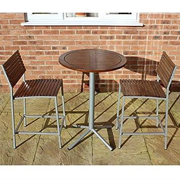 New York Garten Bar Set U2013 Im Holz Und Metall Bar Tisch Und 2 Oder