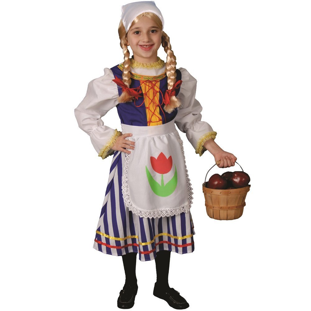 Dress up America Deluxe traditional Dutch Costume Set (M) by Dress Up America