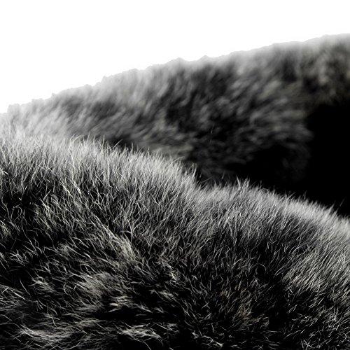 AllhqFashion Mujer Sólido Puntera Cerrada Sintético Botas Negro-Cuña
