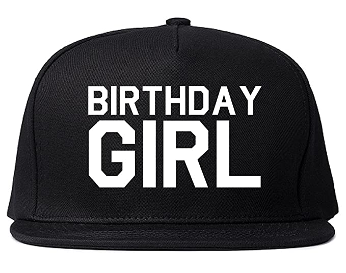 Birthday Girl Snapback Hat Cap Black