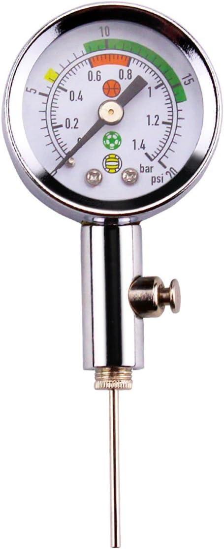 Medidor de presión de bola premium con 3 agujas reemplazables, herramienta compacta para club de fútbol, ideal para fútbol, baloncesto, rugby, baloncesto y más