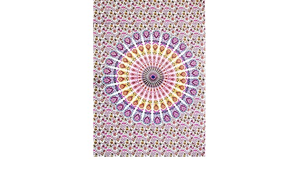 MY DREAM CARTS Mandala Cotton Indian Small Wall Hanging Poster Tapestry Bohemian Handmade Decorative Wall Art Style Traditional Tapestries Size Poster 40x30Inches 101x76Cms