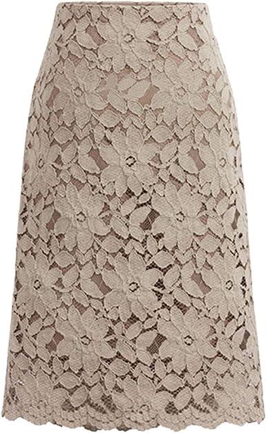 Geilisungren Faldas Mujer Cortas Falda de Encaje para Mujer A-Line ...