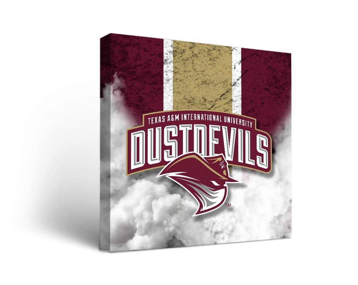 Texas A & M国際大学TAMIU Dust Devilsキャンバス壁アートヴィンテージバージョン B01IW3MNE2  24x36