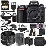 Nikon D750 DSLR Camera (Body Only) + Nikon AF NIKKOR 50mm f/1.8D Lens + 52mm 3 Piece Filter Set (UV, CPL, FL) + Battery + Sony 128GB SDXC Card + HDMI Cable + Remote + Card Reader + Flash Bundle Review