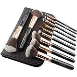 SIXPLUS 11Pcs Royal Golden Makeup Brushes Professional Makeup Brush Set with Bag
