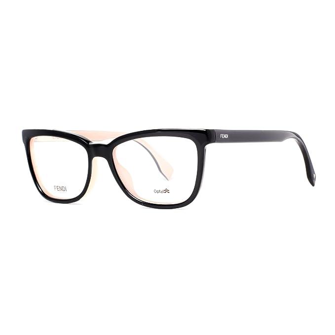889af521ff4 FENDI Eyeglasses 0122 0MG1 Black Pink 53MM at Amazon Men s Clothing store