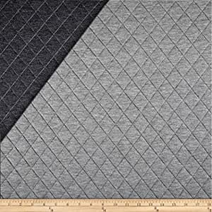 Telio Loft Pre-Quilted Reversible Knit Grey/Dark Grey Fabric By The Yard