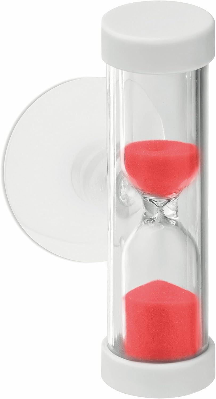d2.5x6cm Plastique Minuteur de douche. Red