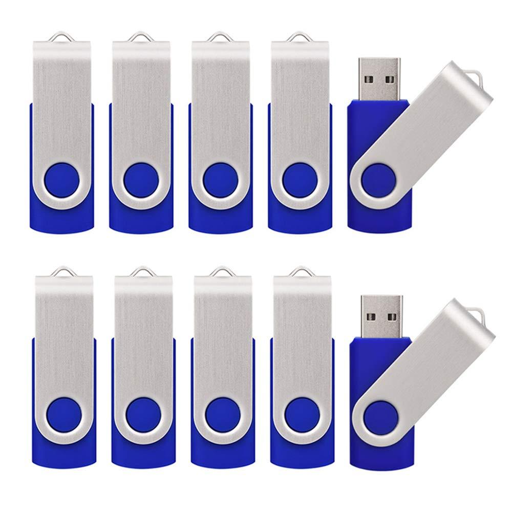 KALSAN 50 Pack 16GB USB Flah Drives Pack USB 2.0 16GB Flash Drive 50 Pack USB Memory Stick-Blue