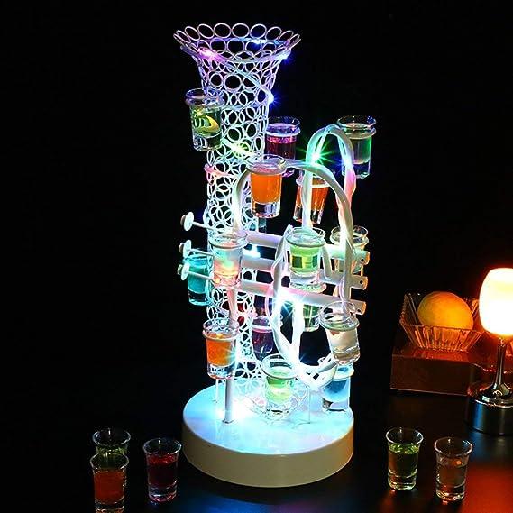 Soporte para vasos con luz porosa tipo saxofón Portavasos para ...