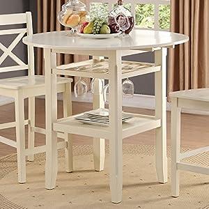 ACME Furniture 72545 Tartys Counter Height Table Cream