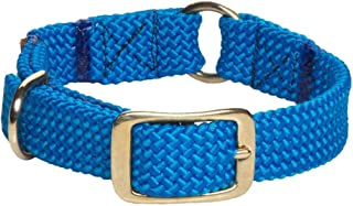 product image for Mendota Pet Braid Collar - Center Ring - Dog Collar - Made in The USA - Orange , 1 in x 24 in