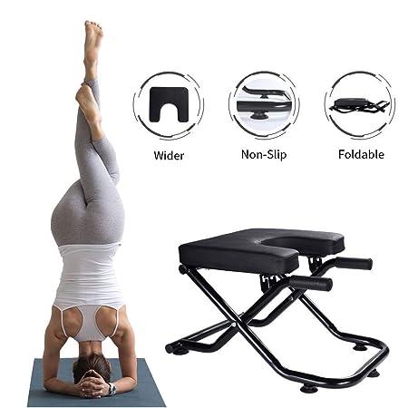 LJQ El Taburete de Yoga invertido representa una Silla de ...