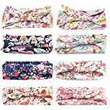 himipopo Baby scarf Hair belt A girl's braid Ornaments (Flower rabbit ear 8pcs)