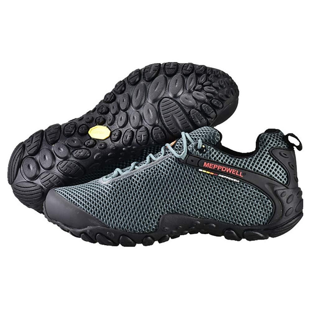 Qiusa Mens Mesh Breathable Schuhe weiche Sohle Sohle Sohle Bequeme Turnschuhe Klettern für Walking Running (Farbe   Grau, Größe   EU 43) B07HMPHL4J Sport- & Outdoorschuhe Einzelhandelspreis be0011