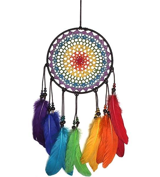 Rainbow Double Heart Dream Catchers Feather Dreamcatcher Home Room Decor