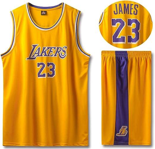 Lakers James # 23 para Hombre Retro Uniforme de Baloncesto ...