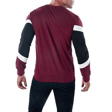 Naturazy Sweater SuéTer Hombre Invierno, La Blusa Superior Delgada De Manga Larga De La Camiseta del Remiendo Ocasional De Los Hombres De La Moda Blusa: ...