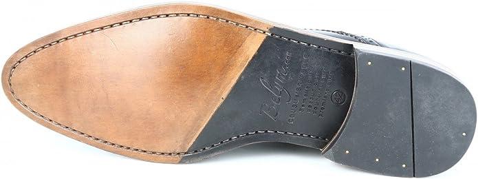 Belym Zapatos Tipo Oxford para Hombre, Piel, Color Negro