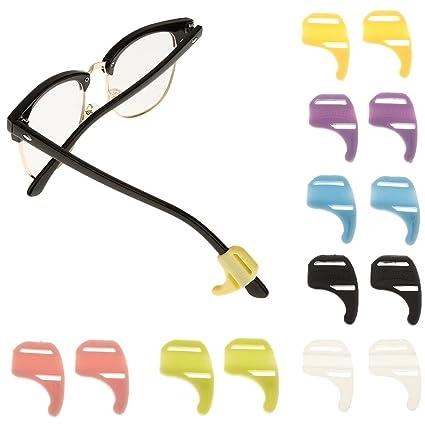 Ganchos Holder de Oreja Silicona Antideslizante para Gafas de Sol Niños - Azul