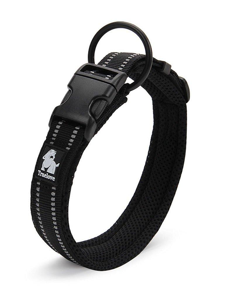 resistente e traspirante S 35-40cm di sicurezza regolabile confortevole per cani piccoli//medi//grandi Rantow Collare per cani nero