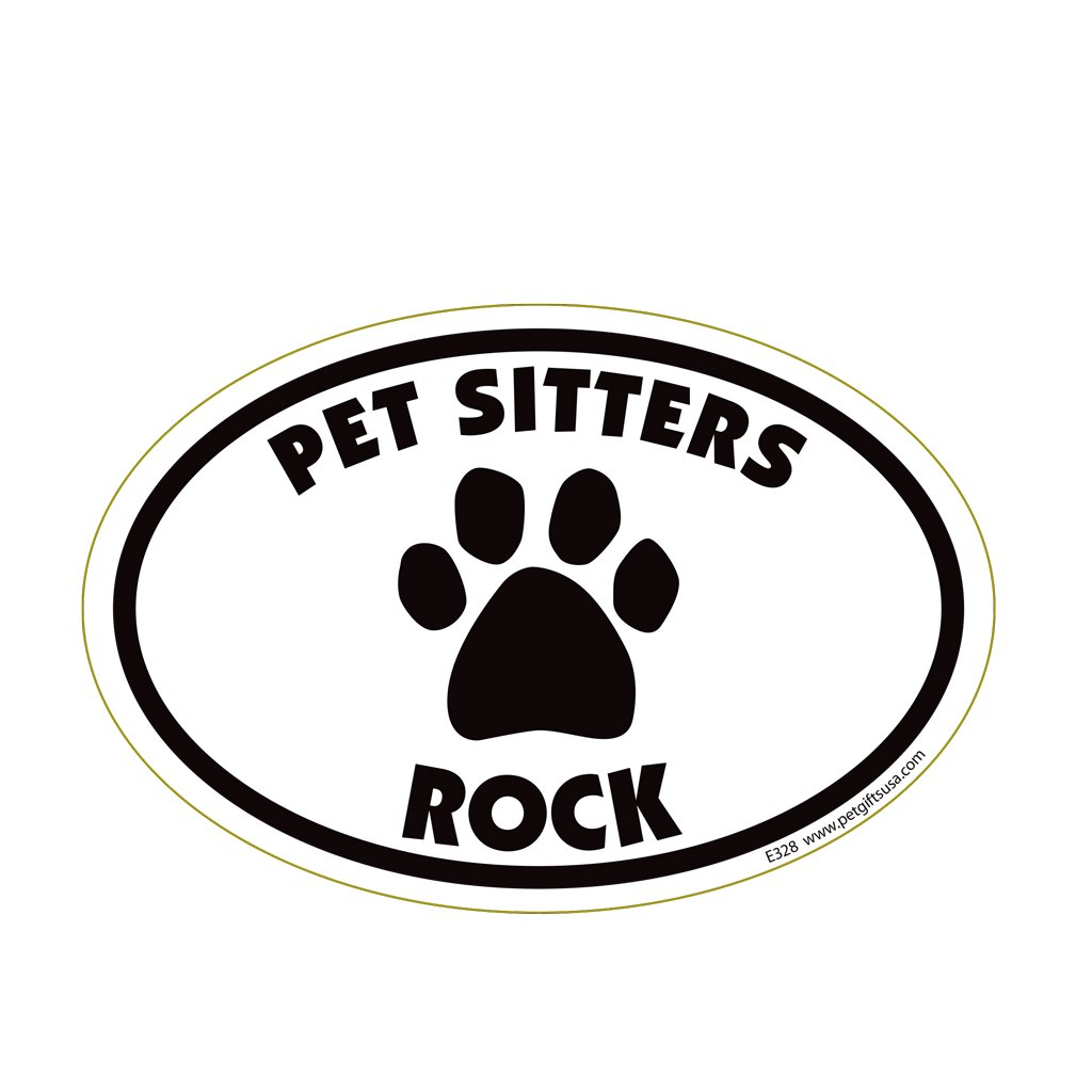 Pet Sitters Rock Oval Magnet Pet Gifts USA
