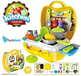 Techhark Ultimate Kid Chef's Bring Along Kitchen Cooking Suitcase Set - 26 Pieces