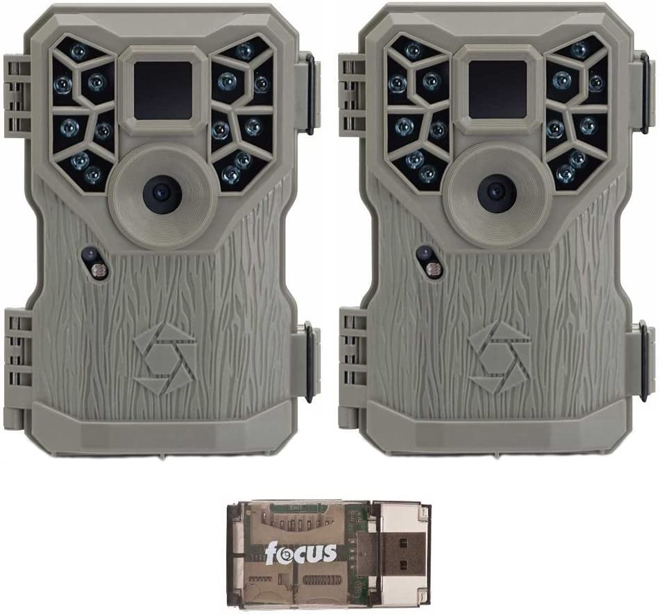 Stealth Cam PX14X P Series Digital Scouting Trail Game Camera 10MP , 2-Pack with Focus USB Reader