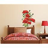 Decals Design 'Flowers Red Poppy with Buds' Wall Sticker (PVC Vinyl, 50 cm x 70 cm)