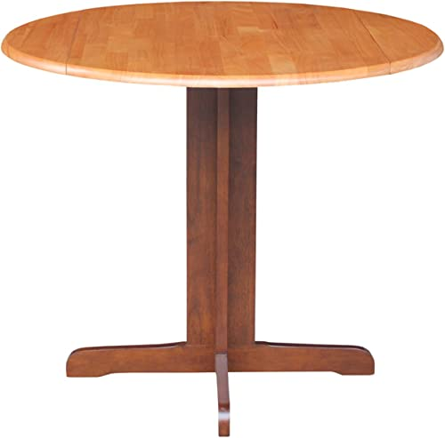 International Concepts Dual Drop Leaf Dining Table, Cinnamon Espresso, 36-Inch