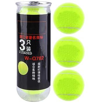 Pelota de Tenis,3Pcs Pelota de Tenis de Entrenamiento Profesional ...