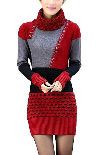 TOOGOO(R)Ropa femenina Blusa de Sueter jersey de pulover de polera blusa de