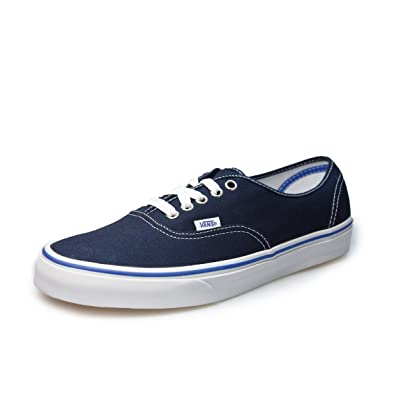 Authentic Dress Blue Canvas Skate Trainers-UK 3