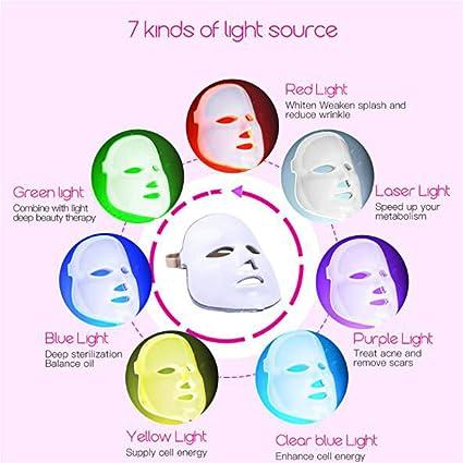 Máscara LED 7 colores de luz LED rejuvenecimiento belleza belleza instrumento de luz fría fotón máscara