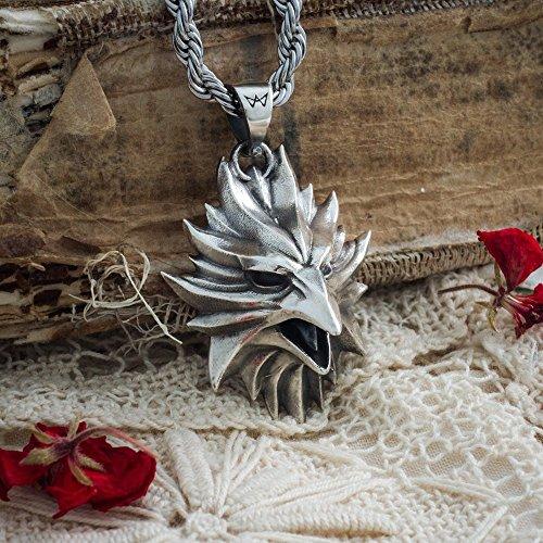 Paradise Medallion - Handmade Phoenix medallion, legendary creature, symbol of reborn, sun, resurrection, Paradise, life, ancient Greece and Rome talisman