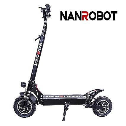 NANROBOT D4 + 2000 W Patinete eléctrico Ligero Plegable con batería de Largo Alcance DE 43,5 Millas de hasta 40,3 mph