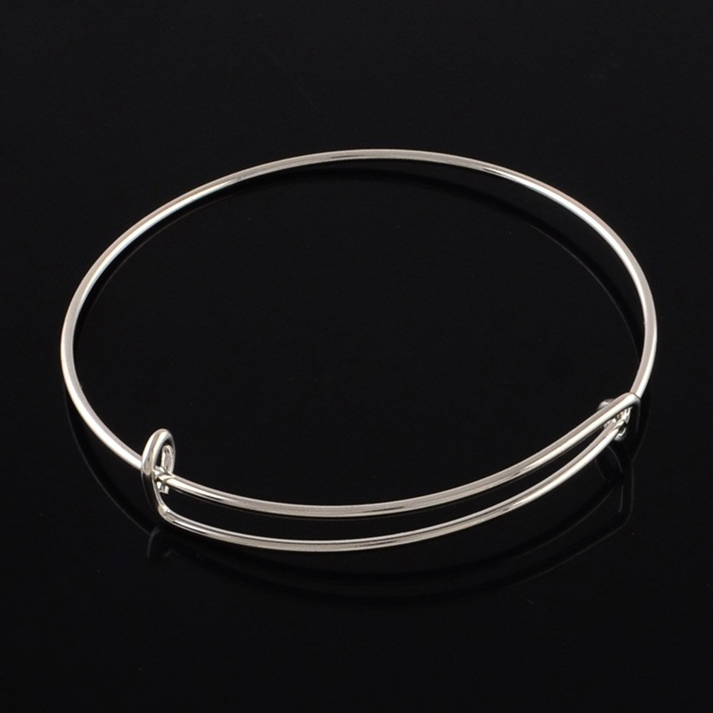 65/MM Platino colorato NBEADS 100/pz Regolabile bracciali in Ferro per Braccialetto Slip-on bracciali Making