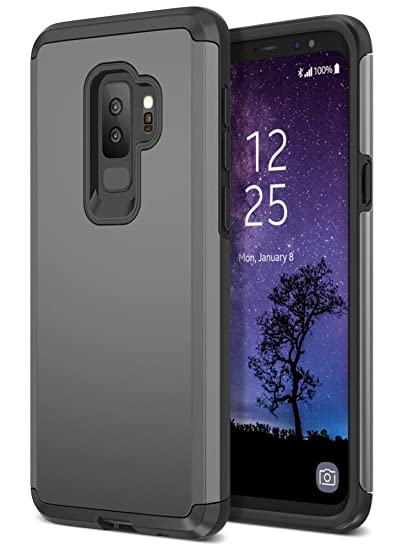sale retailer bf244 73cce Trianium Protanium Galaxy S9 Plus Case with GXD Impact Gel Cushion and  Reinforced Hard Bumper Frame [Premium Protection] Heavy Duty Covers for  Samsung ...