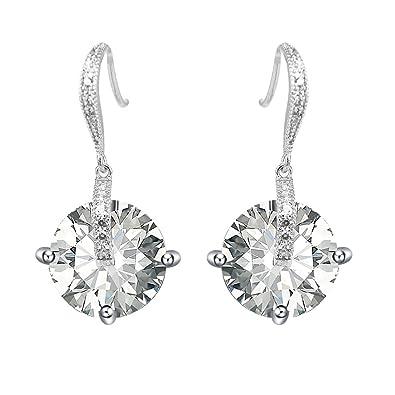 Elegante Blume Form Ohrstecker für Damen Massives 925er Sterling Silber Schmuck