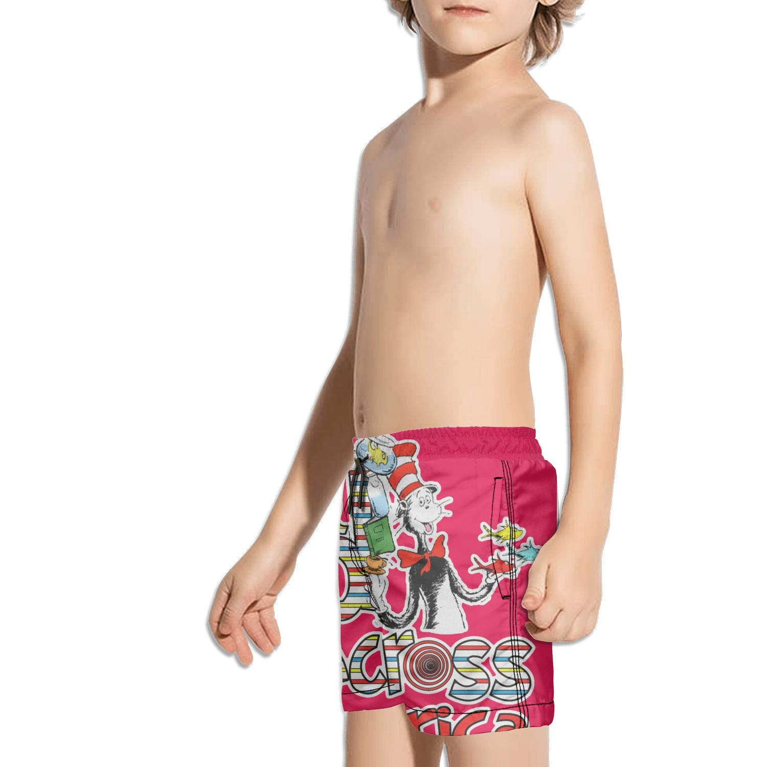 uejnnbc Read Across America flish Running Printed Beach Swim Shorts