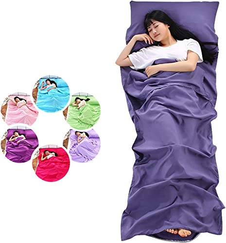 SLIN Sleeping Bag Liner Travel Sheet Travel Bedding for Hotel Stays with Pillow Case for Business Trip Traveling Camp Backpacking,