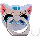 PZOZ Cell Phone Finger Ring Movie Grip Universal Smartphone Dock Car Mount/Sticky Stand/Holder/Kickstand for iPhone 7 6 Plus--Cat (Big eyes)