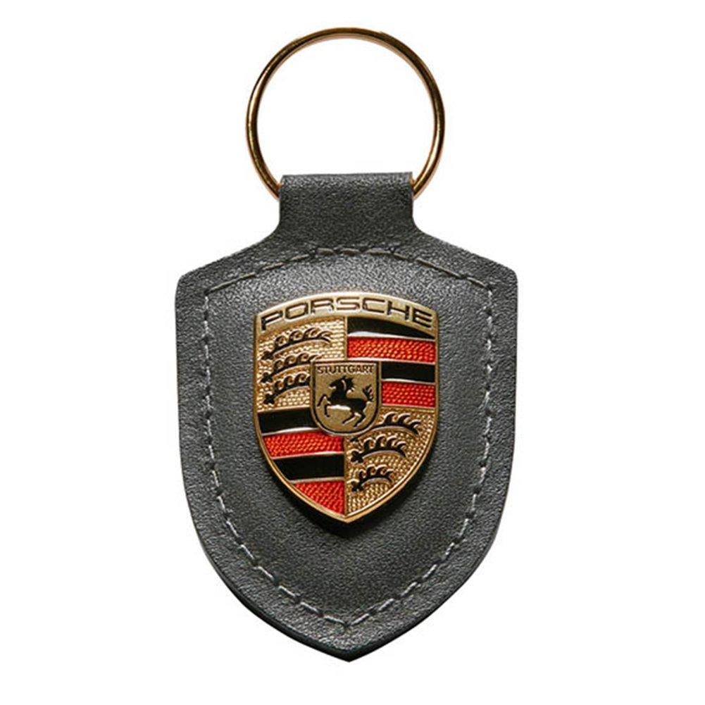 Porsche Grey Crest Key Tag Ring