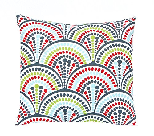 Festive Home Decor Christmas Pillow Cover 18 x 18 Modern Spirals