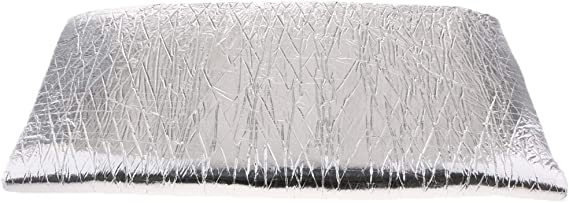 B Baosity 40 X 40 Zoll Alu Fiberglas Hitzeschutzmatte Selbstklebend Autoturbo Auspuff Krümmer Isoliermatte Hitzeschutzfolie Auto