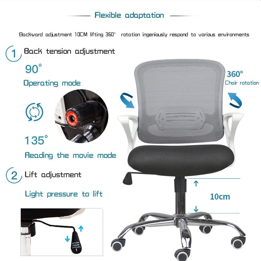 Ergonomisk kontorsstol, modern verkställande dator stol räcke justerbar skrivbordsstol med gungfunktion (färg: svart) gRÖN